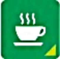 咖啡绿色标志图案素材