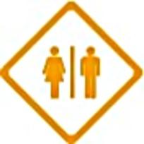 卫生间简约标志图案素材