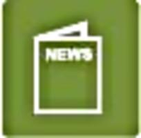 报纸绿色图标标识图案