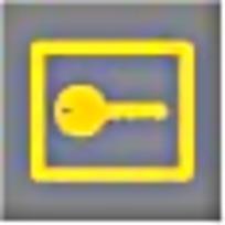 寄存钥匙黄灰图案标识素材