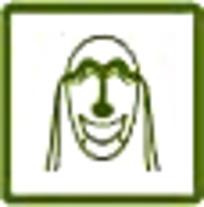 面具草绿色简约图案标识