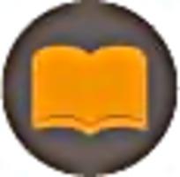 书本橘色简笔画标识