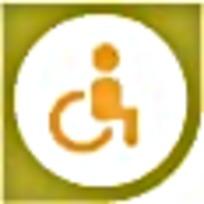 残疾人黄色绿色图标素材