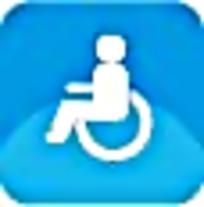 残疾人蓝色图标素材