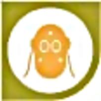 防毒面具黄色绿色图案标识素材