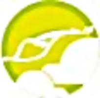 风筝黄绿简约图标素材
