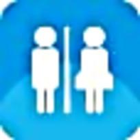 公共厕所蓝色图标素材