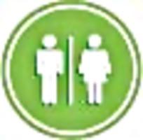 公共厕所绿白标识图案素材