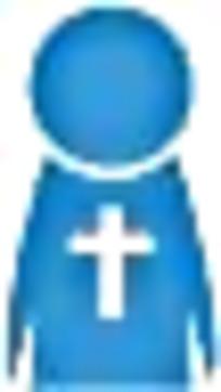 教堂人员线条简笔画标识