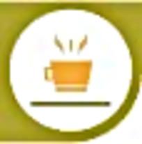 咖啡橘色绿色简约标识素材