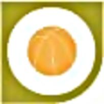 篮球黄色绿色图案标识素材