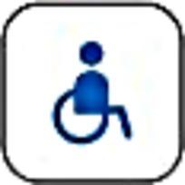 蓝色残疾人标识