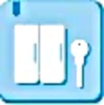蓝白钥匙图标图案素材