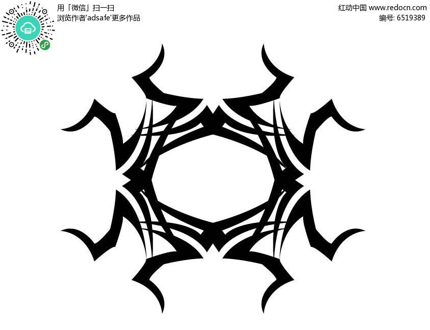 创意黑白花纹图案素材
