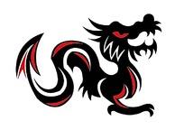 红黑龙纹图案素材