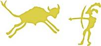 金色狩猎抽象图案素材