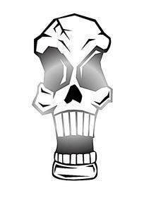 恐怖骷髅头创意图案素材