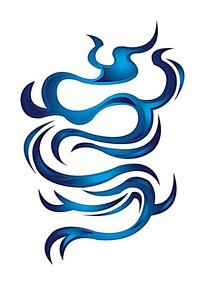 蓝色龙纹图案素材