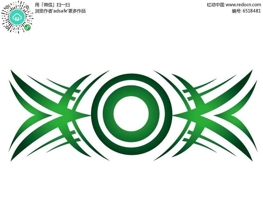 绿色简约创意花边边框素材