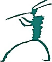 绿色狩猎人物花纹图案素材