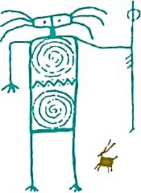 绿色原始人图案素材