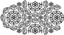 黑白矢量复杂图形形状