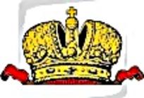 俄国丝带金色皇冠矢量图