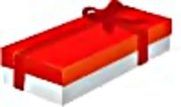 红色扁长礼物盒
