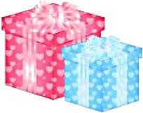 两个礼物盒矢量图
