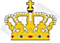 十字架金色皇冠矢量图