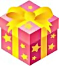 星星图案粉色礼物