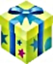 星星图案绿色礼物盒