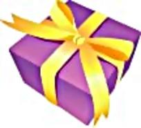 紫色礼物盒