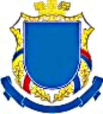 蓝色丝带金色麦穗皇冠徽章