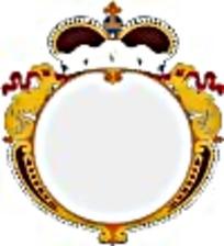 欧式圆形皇冠徽章