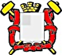丝带锤子皇冠徽章