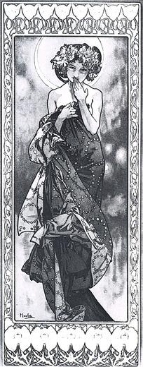 山间行走的美女手绘线稿图 戴花环风中行走的美女黑白画 手拿气球在沙