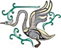 大雁艺术图案素材