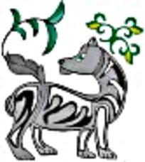 灰色狗艺术图案