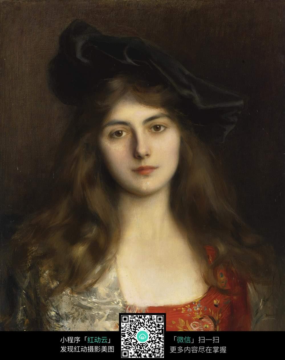 女性人物油画