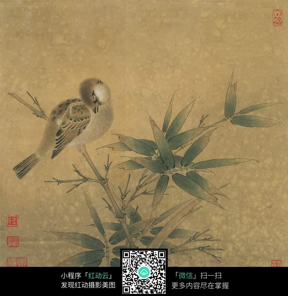 免抠竹画 - 竹林清影 - 竹心斎
