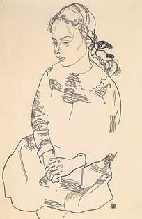 速写古代女人图片