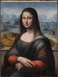 蒙娜丽莎的微笑油画图片