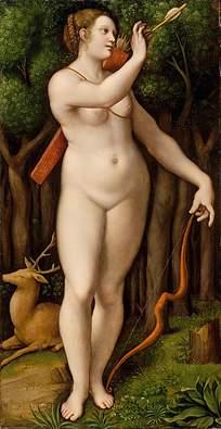 全裸的女人油画素材