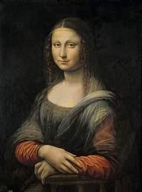 优雅蒙娜丽莎油画