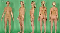 全裸外国美女多角度图