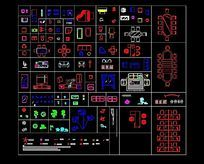 常用的办公家具CAD图块