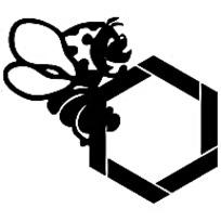 黑色小蜜蜂标志矢量素材