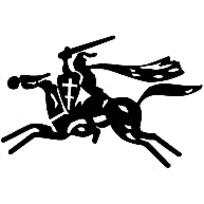 骑马剪影标志矢量素材