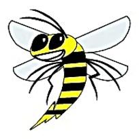 小蜜蜂标志矢量素材